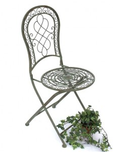 sedia in ferro battuto giardino