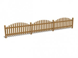 ringhiera in legno per esterno