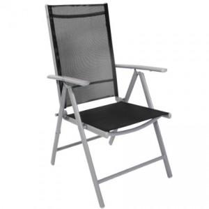 sedia in alluminio per il giardino